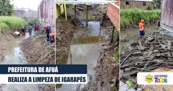 Prefeitura de Afuá realiza limpeza de igarapés
