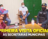 Prefeito Mazinho faz a primeira visita oficial às secretarias municipais