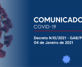 Prefeitura de Afuá adota novas medidas de combate ao Covid-19 – Decreto N.010/2021